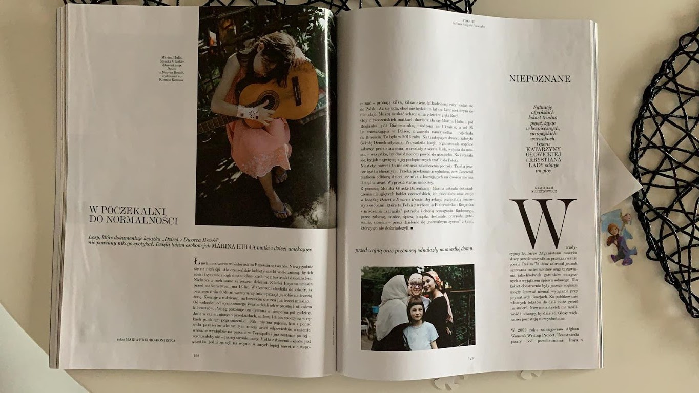"""Article in """"Vogue"""" Polish edition"""